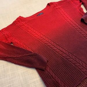 American Eagle Red gradient sweater